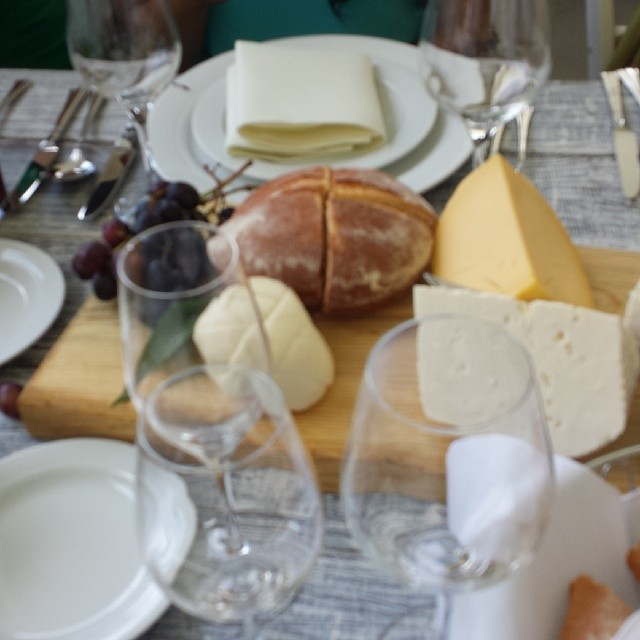cheese and bread