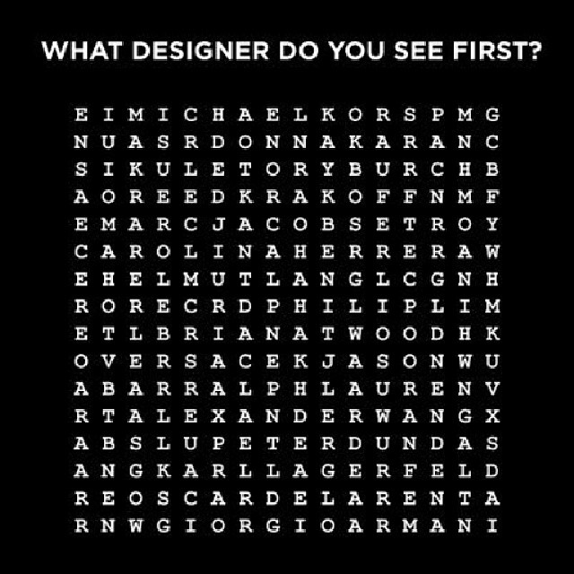 What designer do you see first