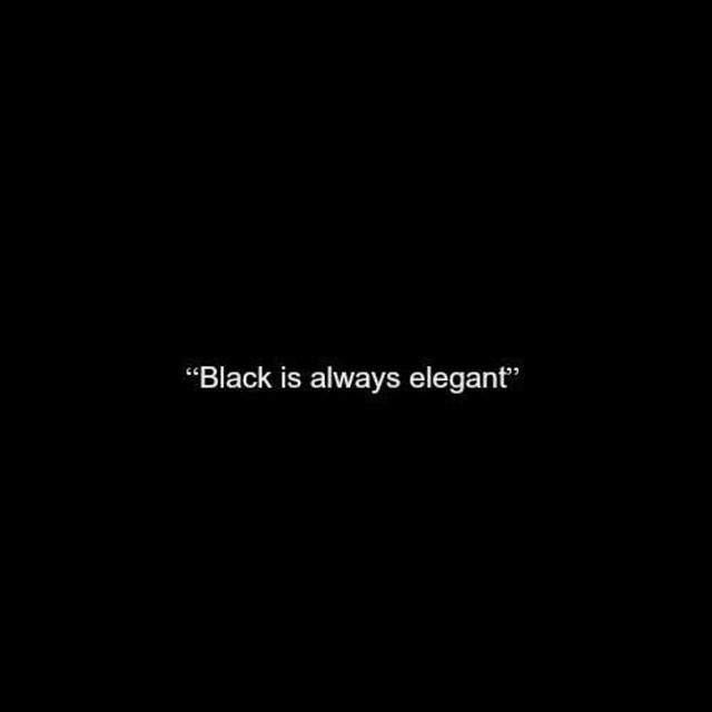 black is always elegant