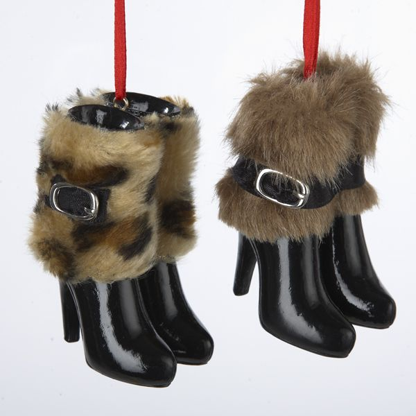 12-fashion-avenue-faux-fur-cuff-black-high-heeled-boots-christmas-ornaments-3