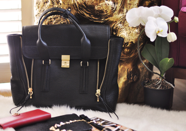 Phillip+Lim+Pashli+bag-black-gold++