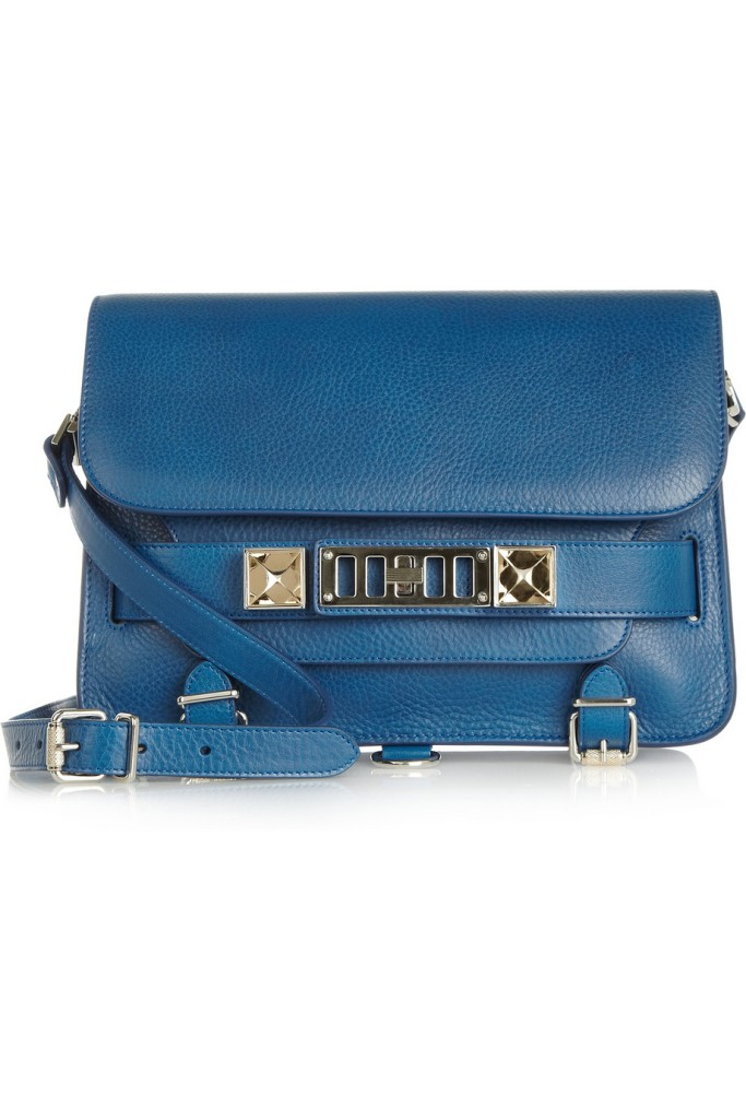 Proenza-Schouler-PS11-Classic-textured-leather-shoulder-bag-Blue-1