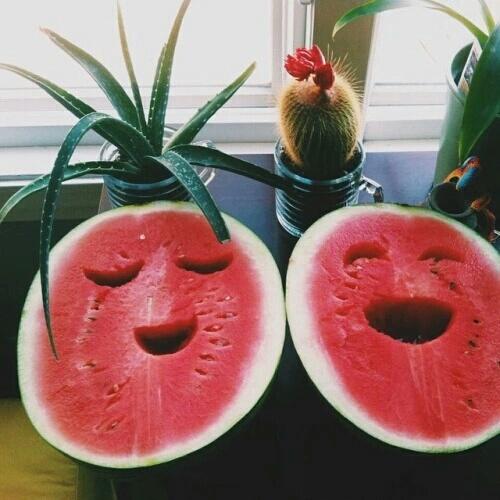 sandias sonrientes
