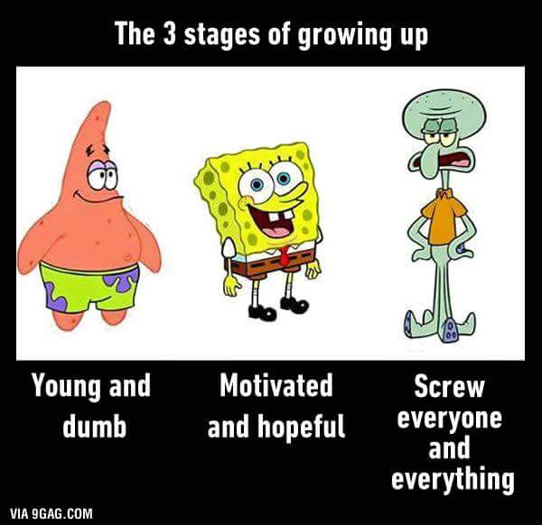 THE 3 STAGES OF GROWING UP