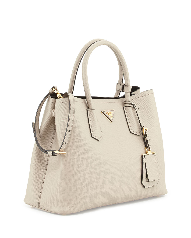 3bd4d9e6b47fbb prada-gray-saffiano-cuir-small-double-bag -product-1-26961946-1-274817608-normal