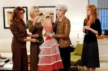 THE DEVIL WEARS PRADA, Meryl Streep, center (wearing a Bill Blass jacket and dress), Rebecca Mader, far right, 2006, photo: Barry Wetcher / TM & Copyright (c) 20th Century Fox Film Corp. All rights reserved