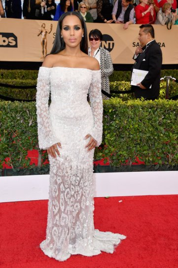 LOS ANGELES, CA - JANUARY 29: Actor Kerry Washington attends the 23rd Annual Screen Actors Guild Awards at The Shrine Expo Hall on January 29, 2017 in Los Angeles, California. (Photo by Steve Granitz/WireImage)